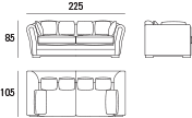 Sofá Positano 2 Plazas