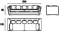 Sofá Positano 4 Plazas